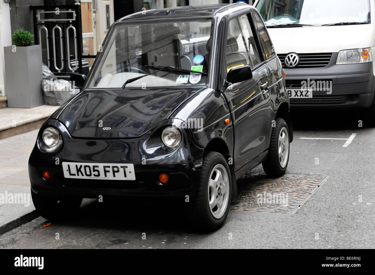 G Wiz Electric Car London United Kingdom Europe Stock Photo