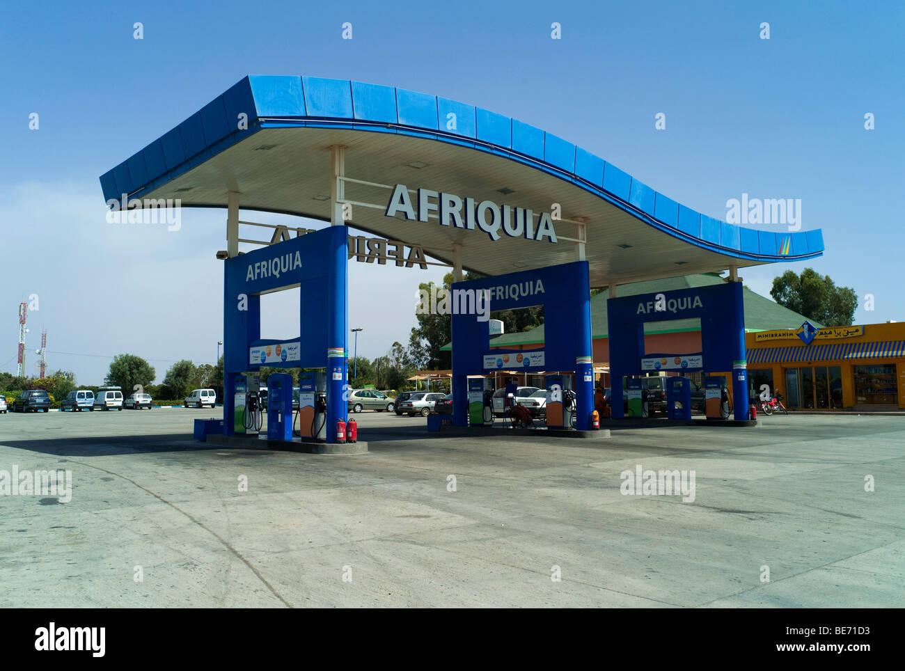 afriquia gas station agadir morocco africa stock photo