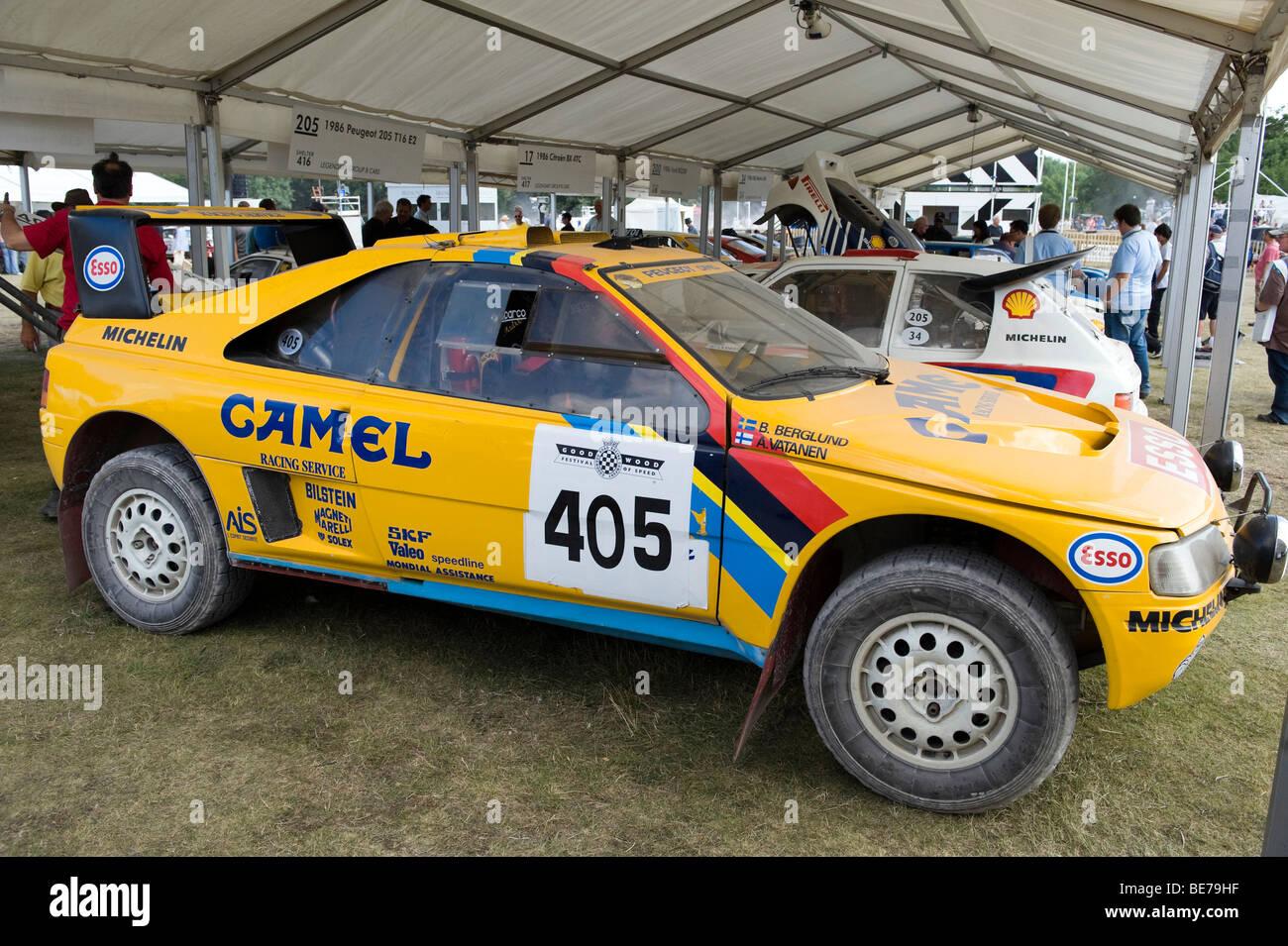 Peugeot 405 T16 Paris Dakar Rally Car At The 2009 Goodwood