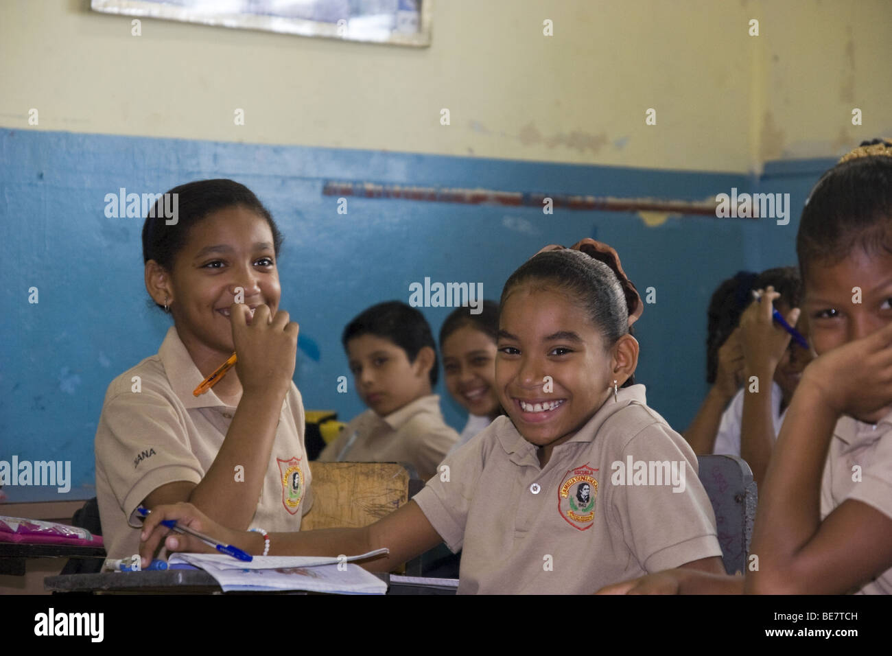 Panamanian School children. Panama City, Republic of Panama ...