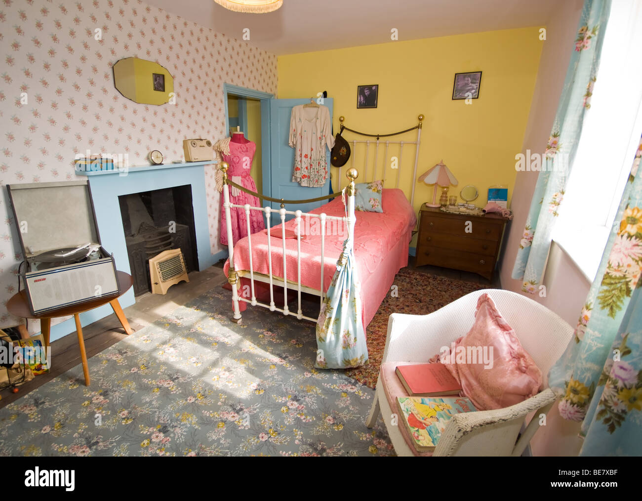1950s Style Teenage Bedroom Stock Photo Royalty Free