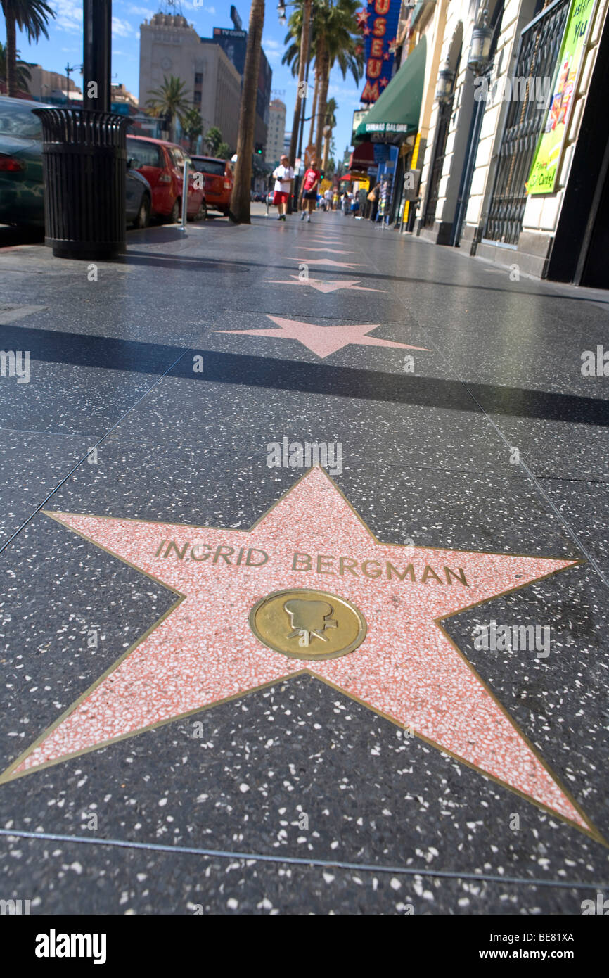 ingrid bergman star walk of fame hollywood boulevard los angeles stock photo royalty free. Black Bedroom Furniture Sets. Home Design Ideas