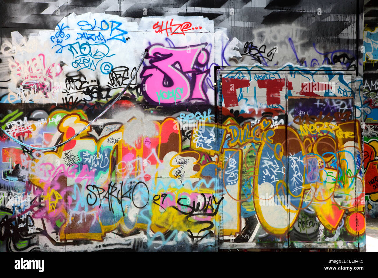 Graffiti wall text - Abstract Colorful Graffiti Background In A Wall Stock Image