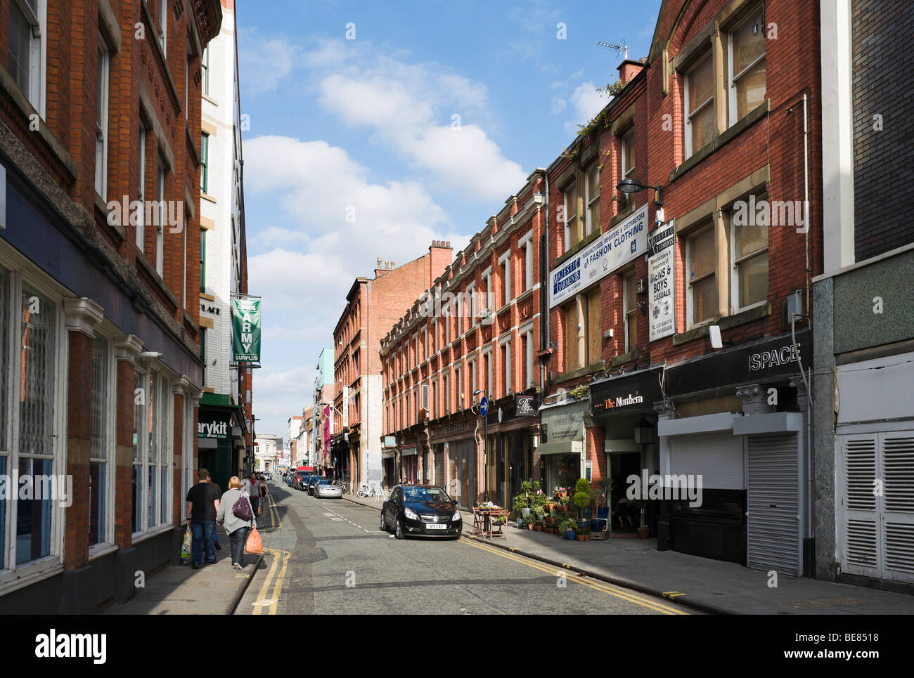 Tib street in the northern quarter manchester england for Terrace nq manchester