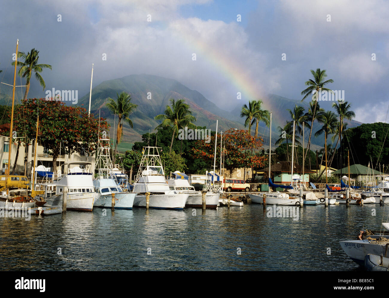 Lahaina Harbour One Of The Most Beautiful Harbours In The World On Stock Photo Royalty Free