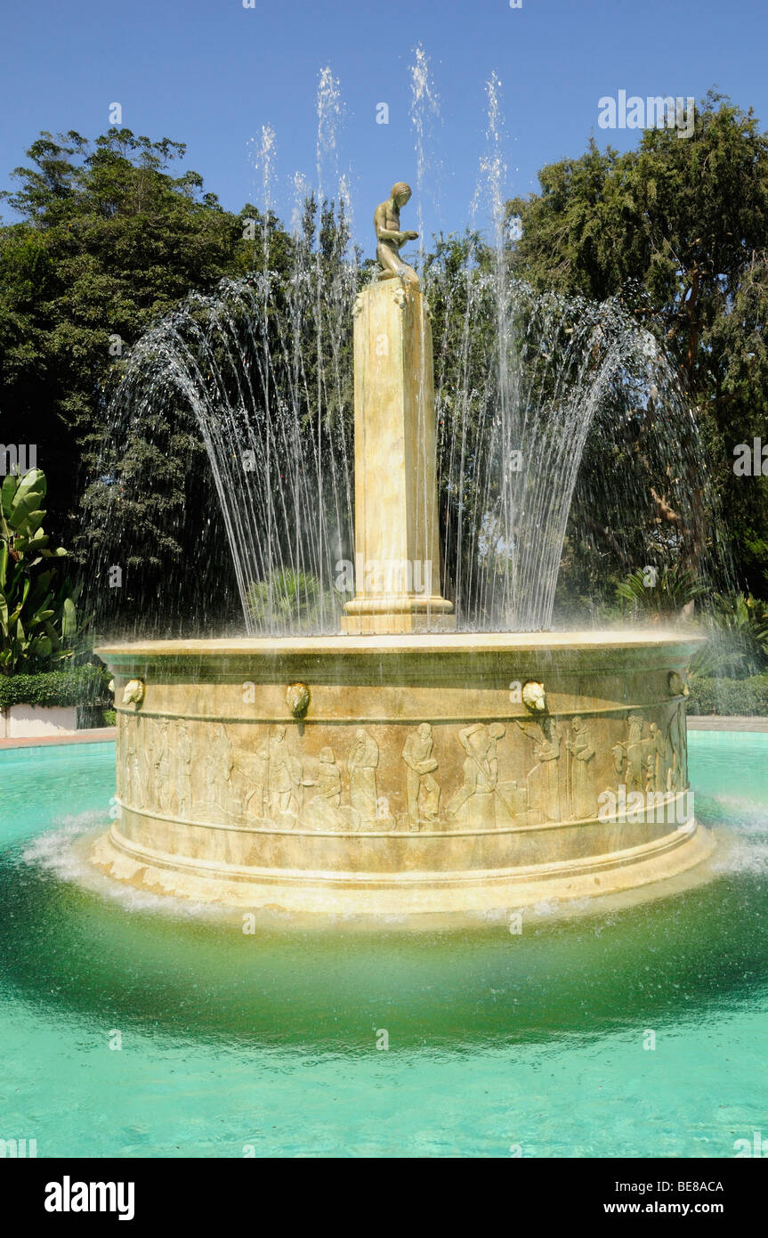 USA, California, Los Angeles, Electric Water Fountain Beverly Hills