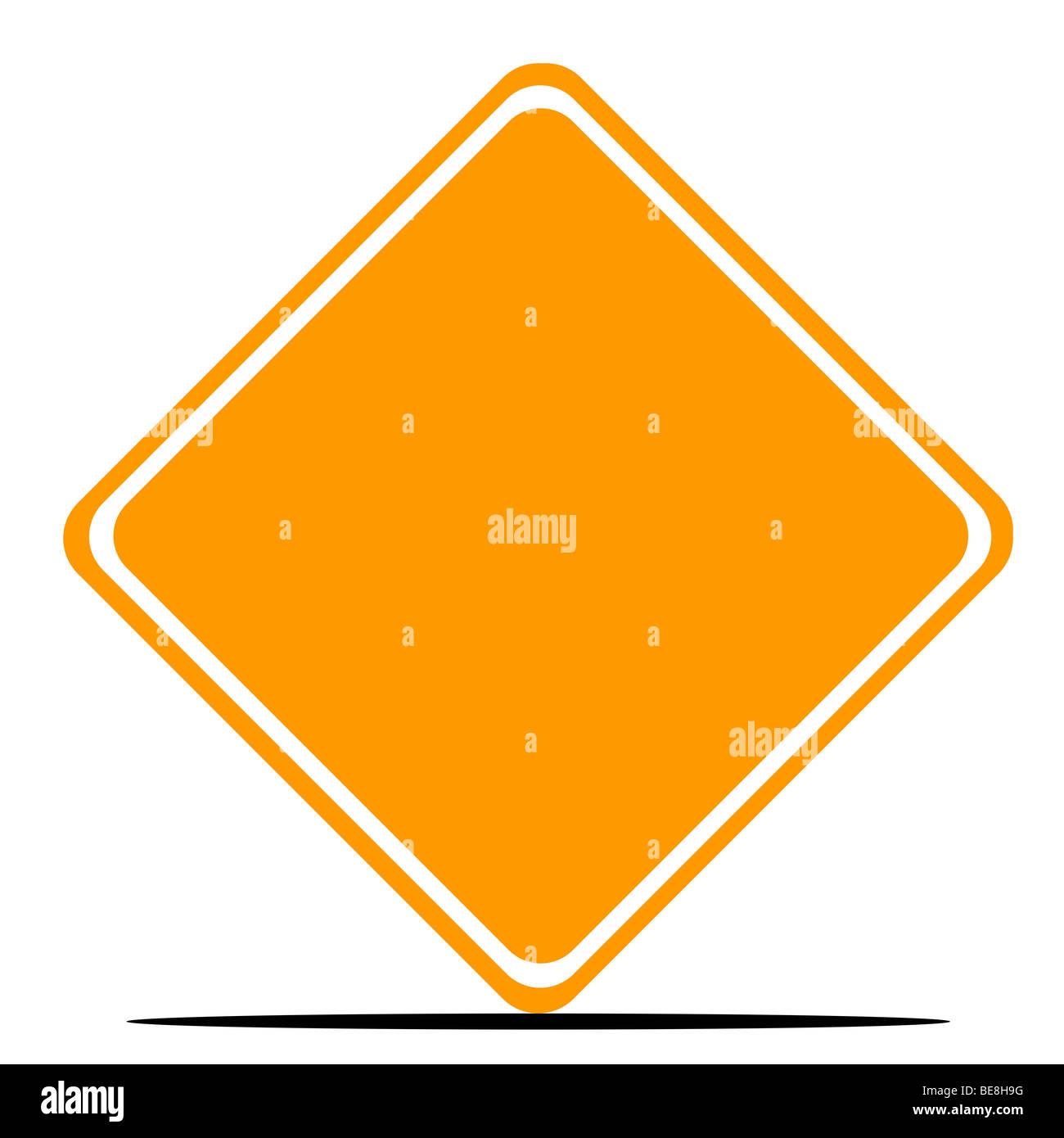 Blank orange diamond road sign isolated on white background stock blank orange diamond road sign isolated on white background buycottarizona Gallery