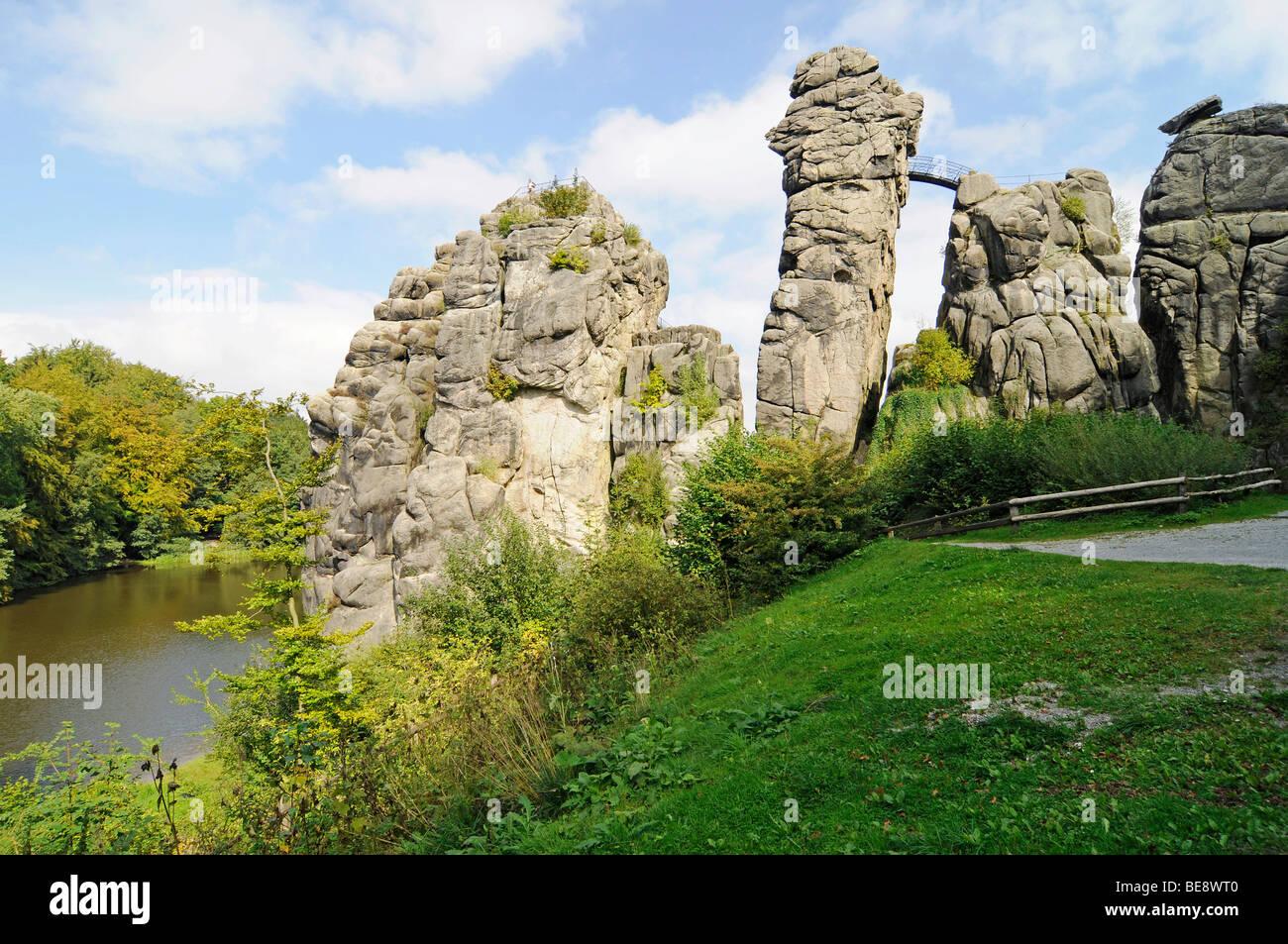 Horn Bad externsteine sandstone rock formation nature reserve horn bad