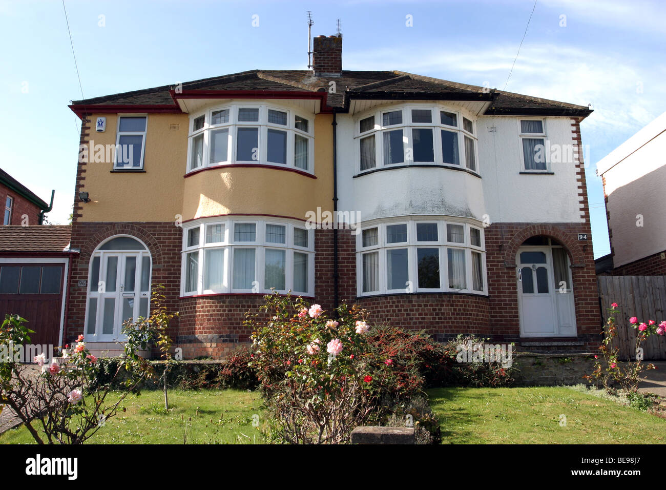 Late 1920 39 s 1930 39 s style semi detached house stock photo for Home architecture 1930s