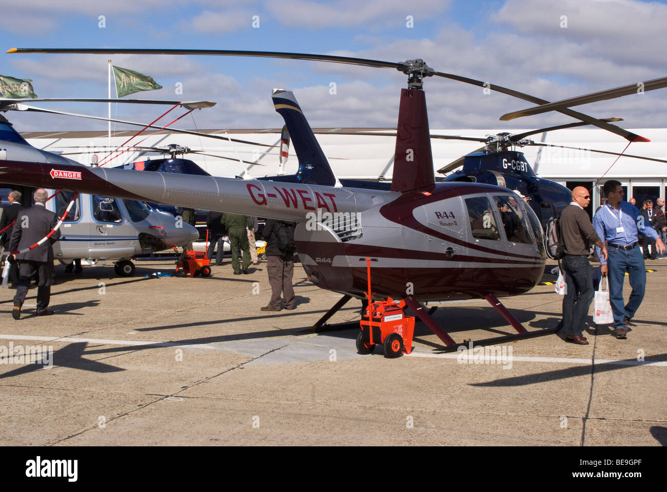 Robinson R44 Raven II Helicopter G-WEAT at Helitech Trade Show ... on enstrom helicopter, ocean water from helicopter, robinson helicopter, r66 helicopter, historical helicopter, world's largest russian helicopter, kiro helicopter, r12 helicopter, woman jumping from helicopter, bell helicopter,