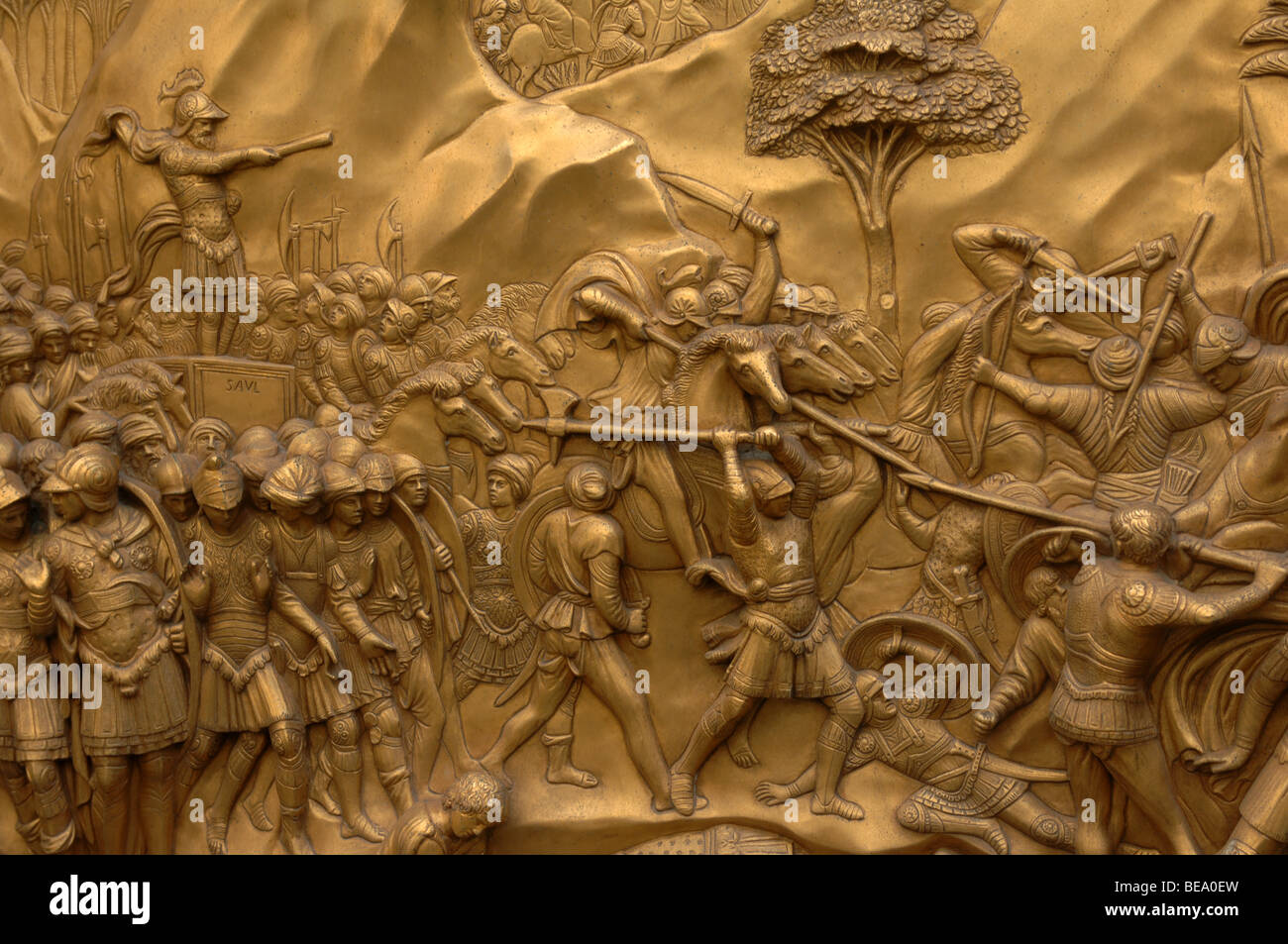 Bronze Doors with Relief Sculptures by Lorenzo Ghiberti Florence Baptistry Piazza del Duomo Florence Italy. & Bronze Doors with Relief Sculptures by Lorenzo Ghiberti Florence ... Pezcame.Com