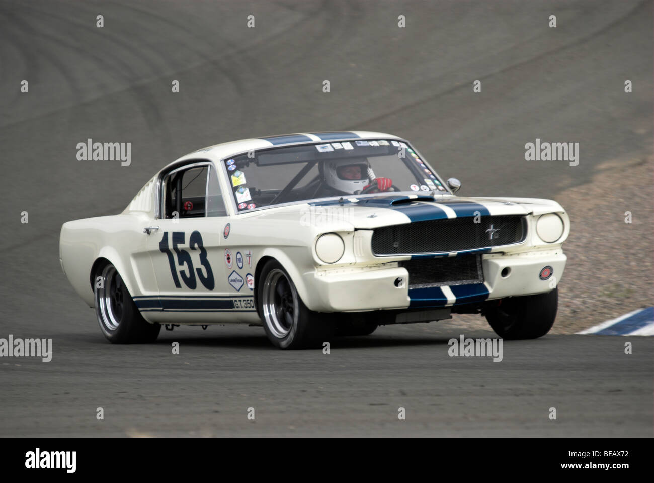 A 1965 Shelby GT350 at a vintage racing event Stock Photo ...
