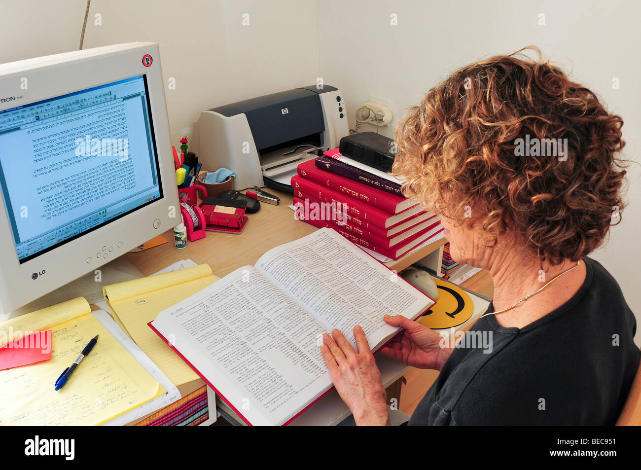 Female Copy editor Working In Front Of A Computer Editing An     nuoweitech com Wallace Academic Editing