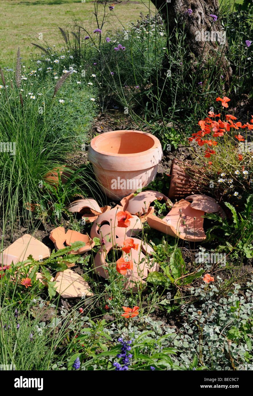 Gartendekoration, Arboretum, Ellerhoop, Deutschland.   Garden Decoration,  Arboretum, Ellerhoop, Germany