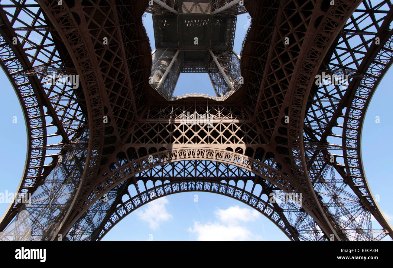 view of the steel frame of the eiffel tower paris france europe - Eiffel Tower Picture Frame