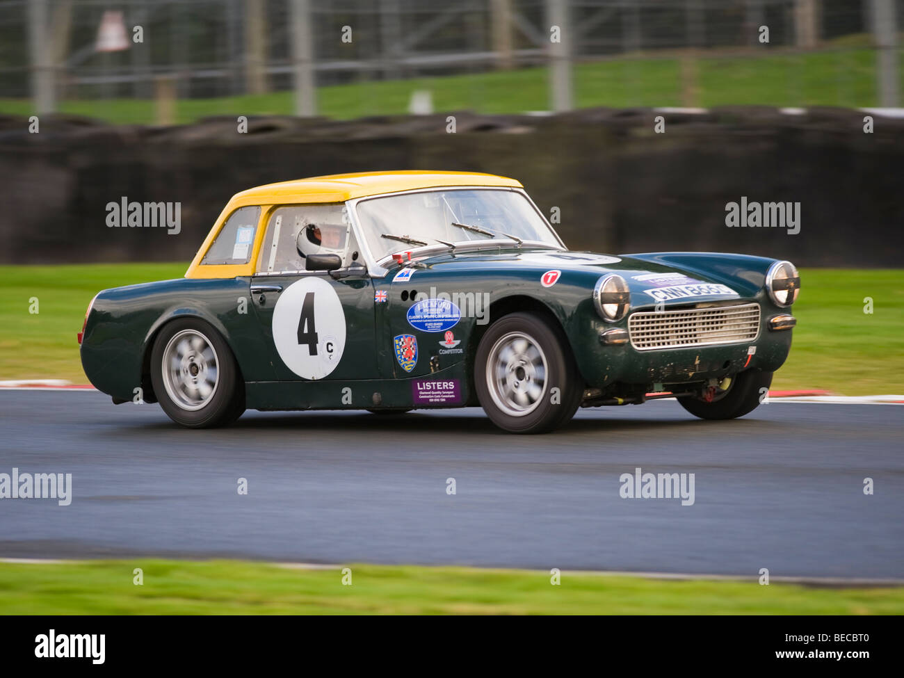 An Austin Healey Sprite Sports Car Racing at Oulton Park Motor ...