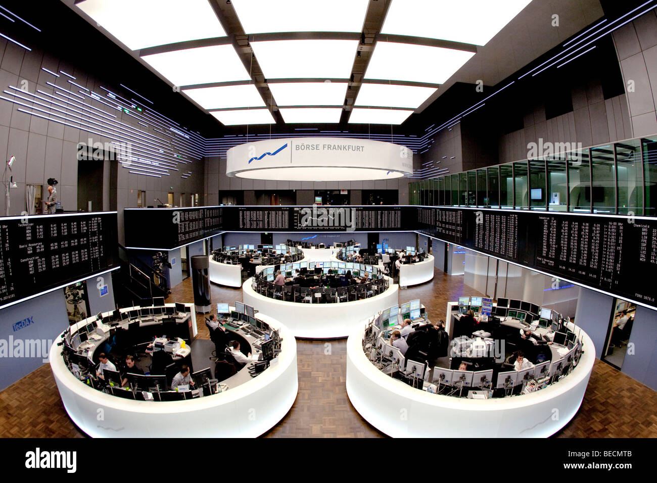 main trading room of the frankfurt stock exchange by deutsche boerse stock photo royalty free. Black Bedroom Furniture Sets. Home Design Ideas