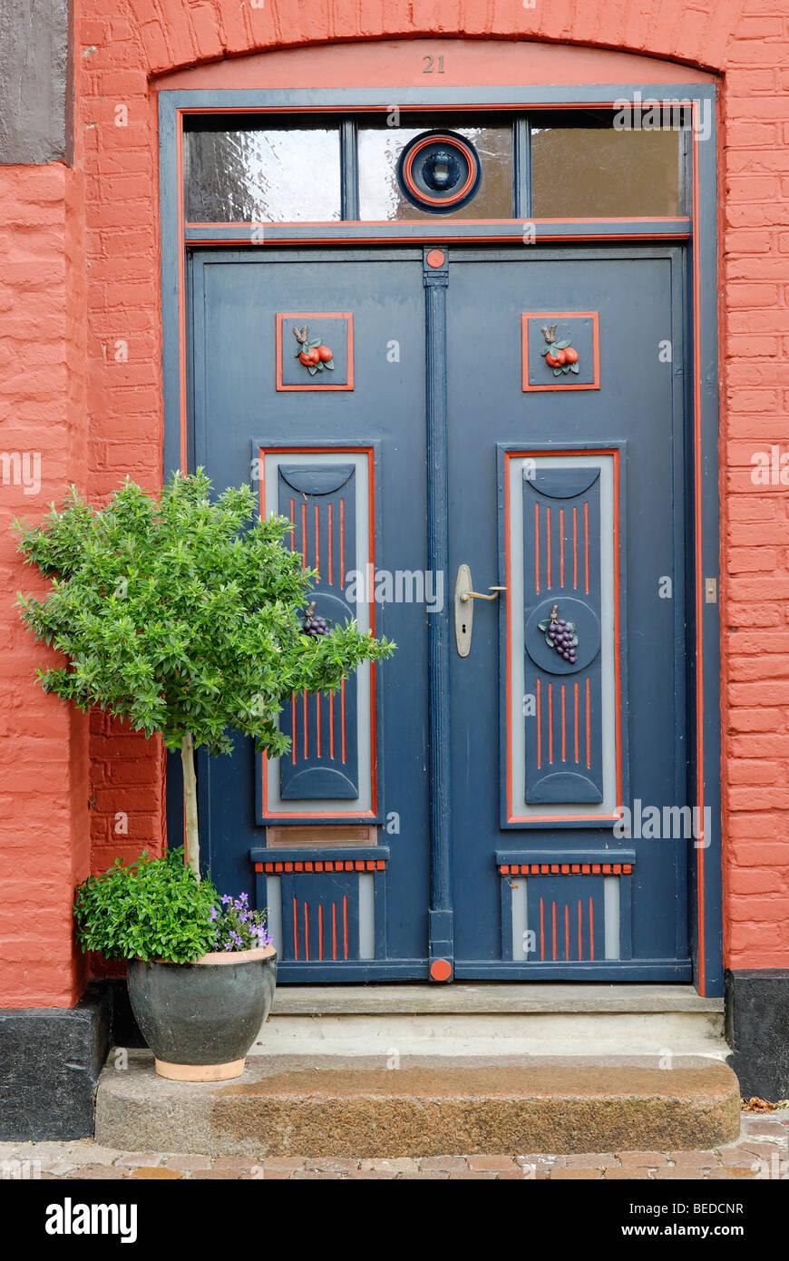 Front Door Ribe Jutland Denmark Europe Stock Photo