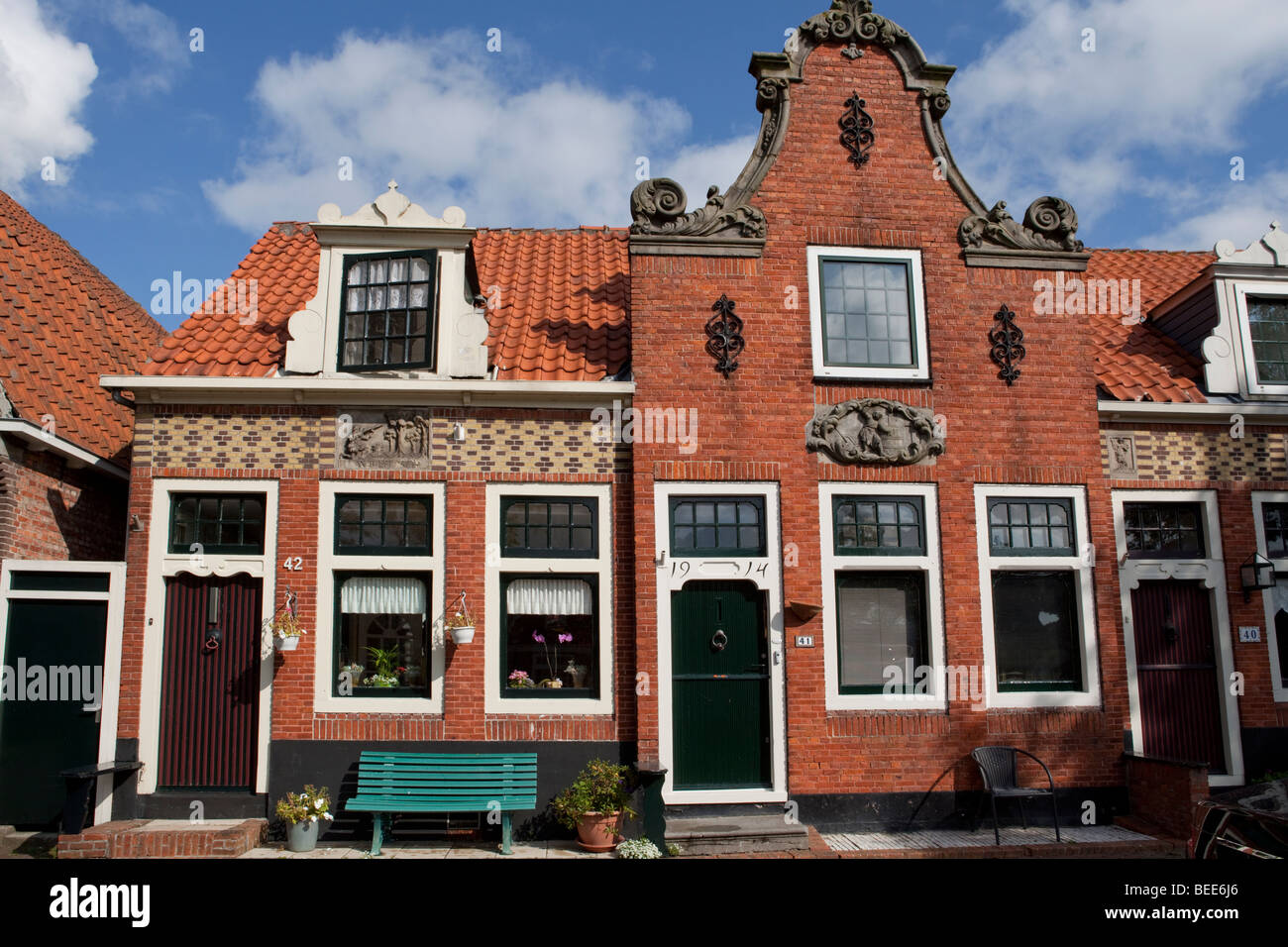 Old Dutch red brick house with three different doors. Edam Holland & Old Dutch red brick house with three different doors. Edam ... Pezcame.Com