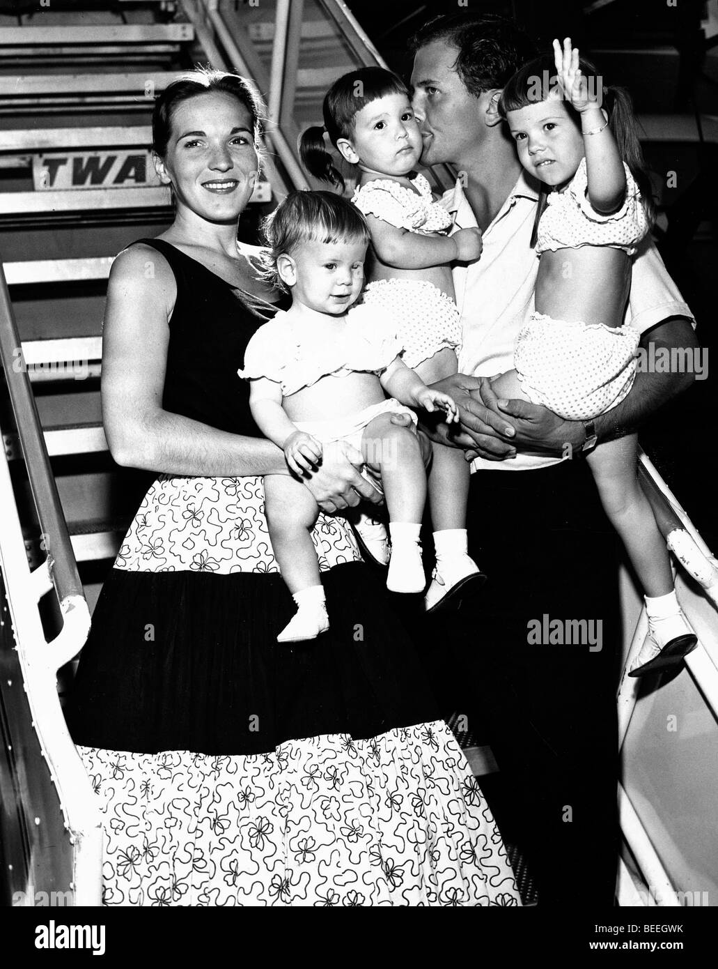 Singer Pat Boone And Wife Shirley Lee Foley And Three Of