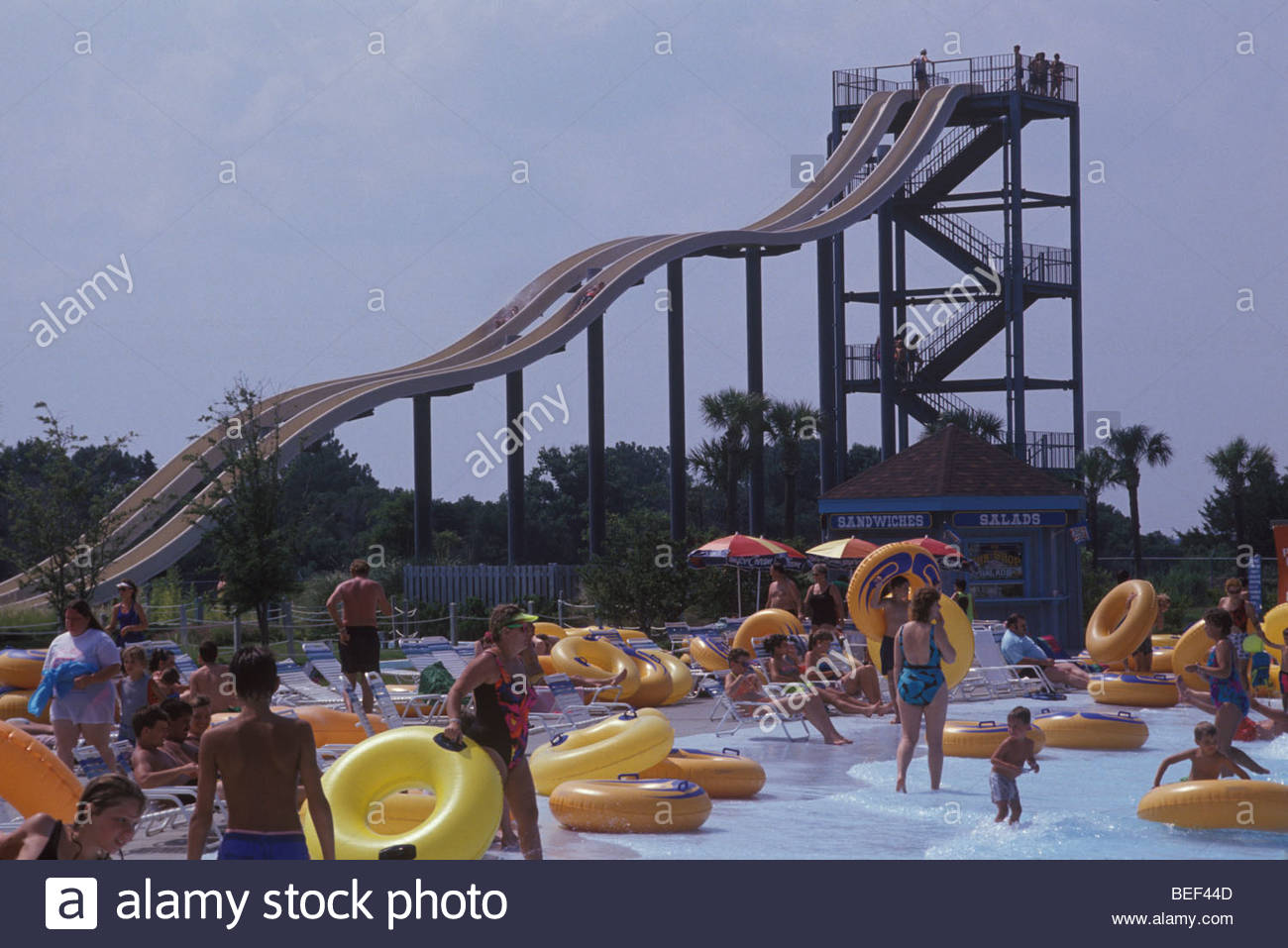 Summer Waves Water Park In Jekyll Island, Georgia Stock Photo ...