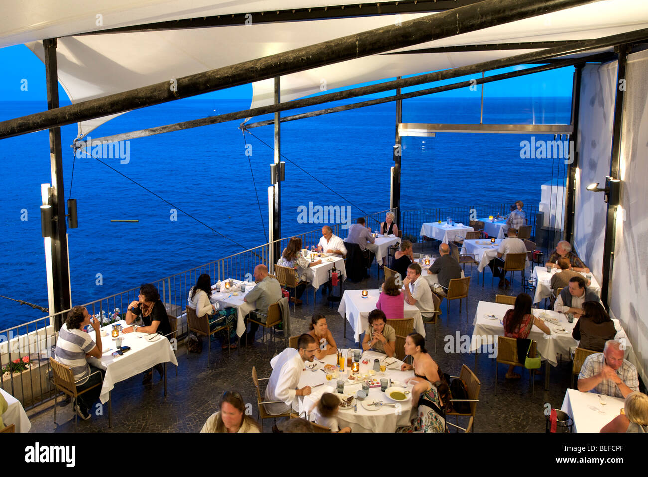 The Terrace Of Riso Restaurant In Funchal Madeira Stock Photo ...