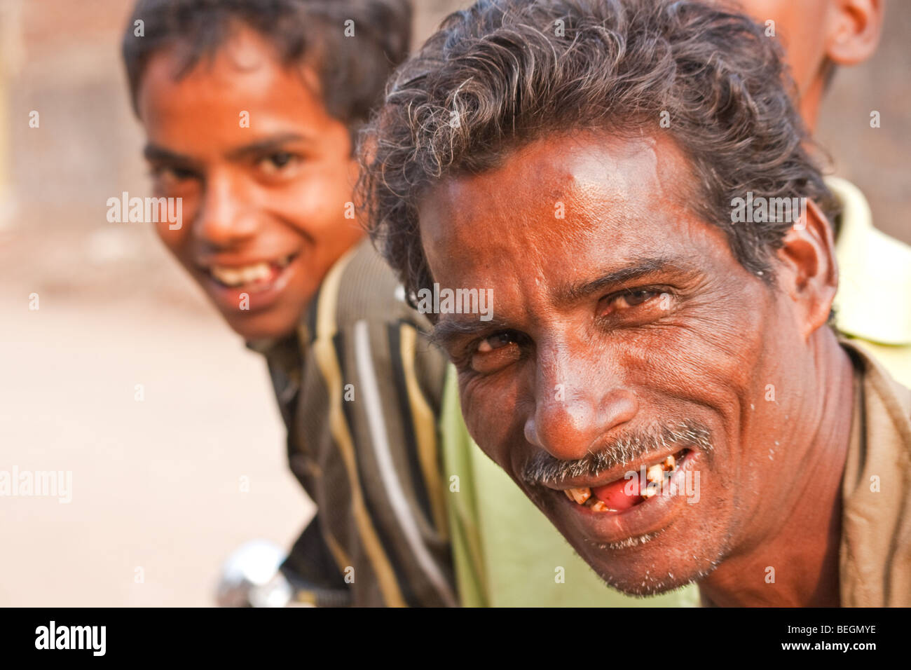 Happy Smiley Face Of An Indian Guy In Puri Orissa Stock