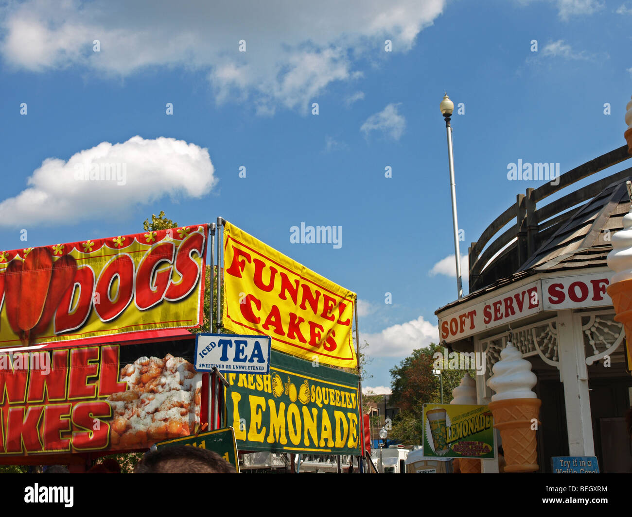 Vendor Food Stands For Festival Carnival Signs With Funnel
