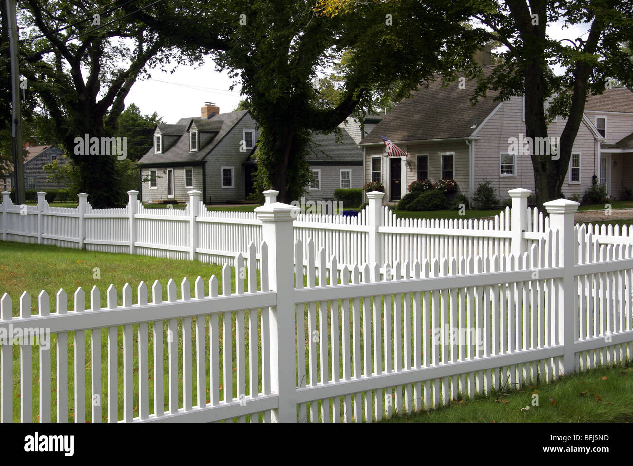 White picket fence and cape cod homes falmouth new