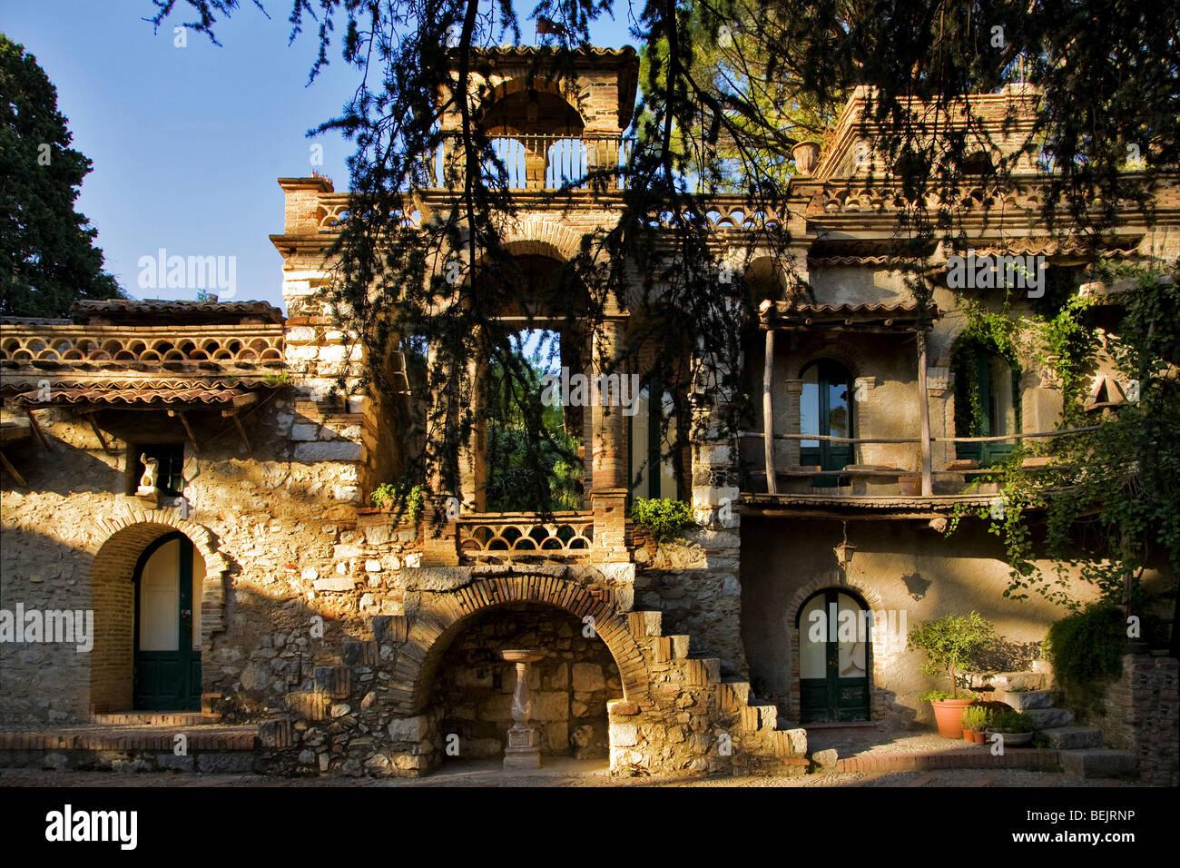 Villa Comunale, garden, Taormina, Sicily, Italy Stock ...
