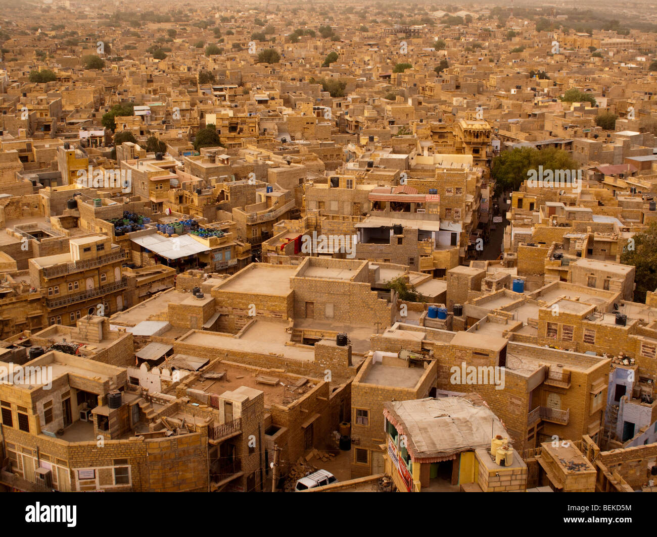 jaisalmer india a view from above of the yellow