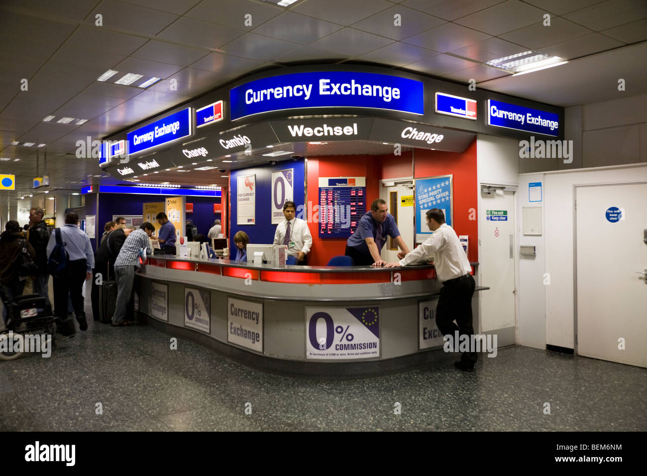 Bureau De Change Office Operated By Travelex At Gatwick Airport South Stock Photo Royalty Free