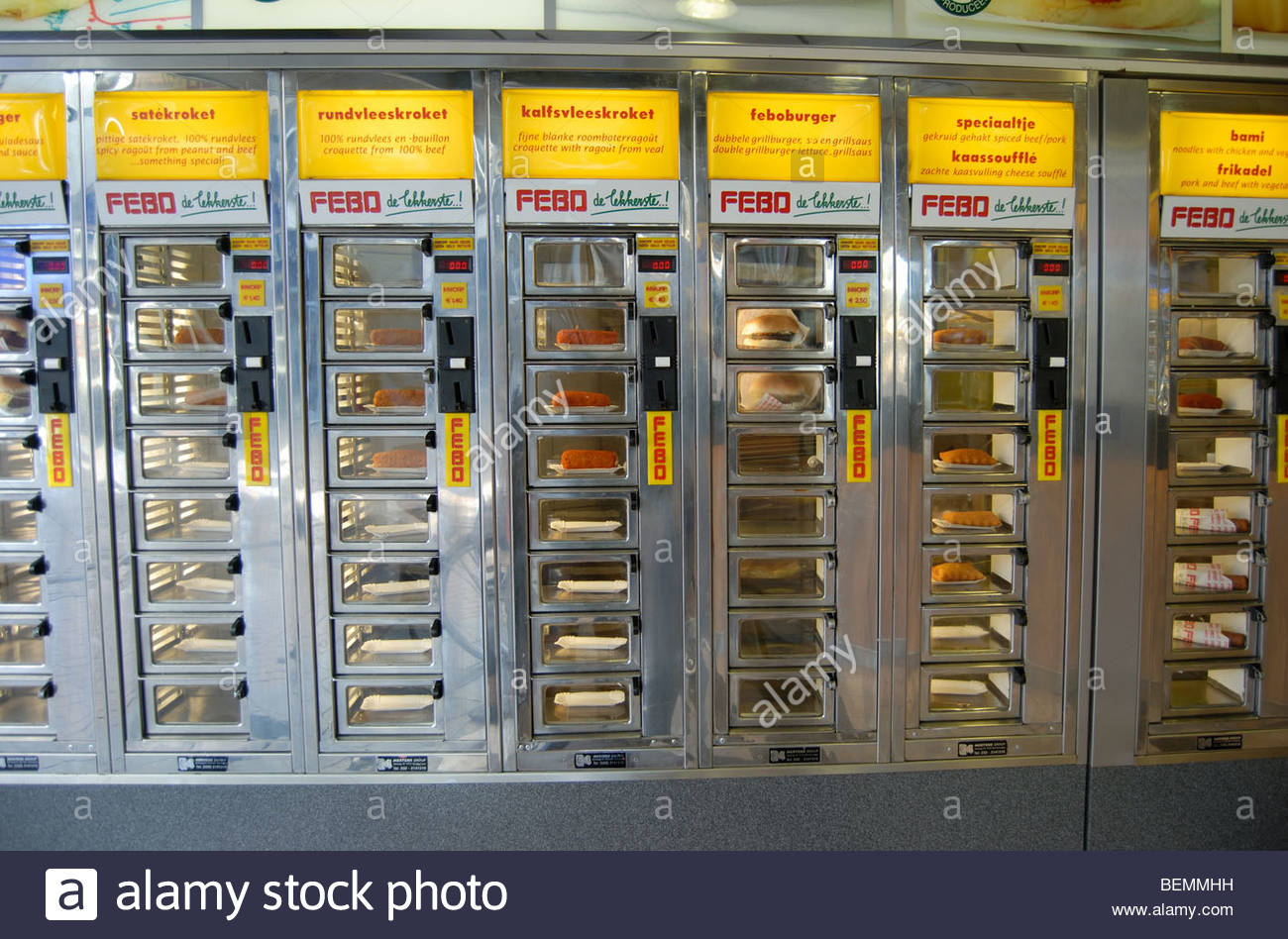 Fast Food Vending Machine Restaurant