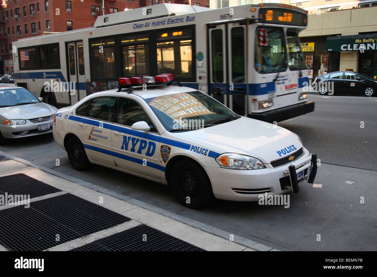 United States Police Patrol Car Parked Up Waiting To