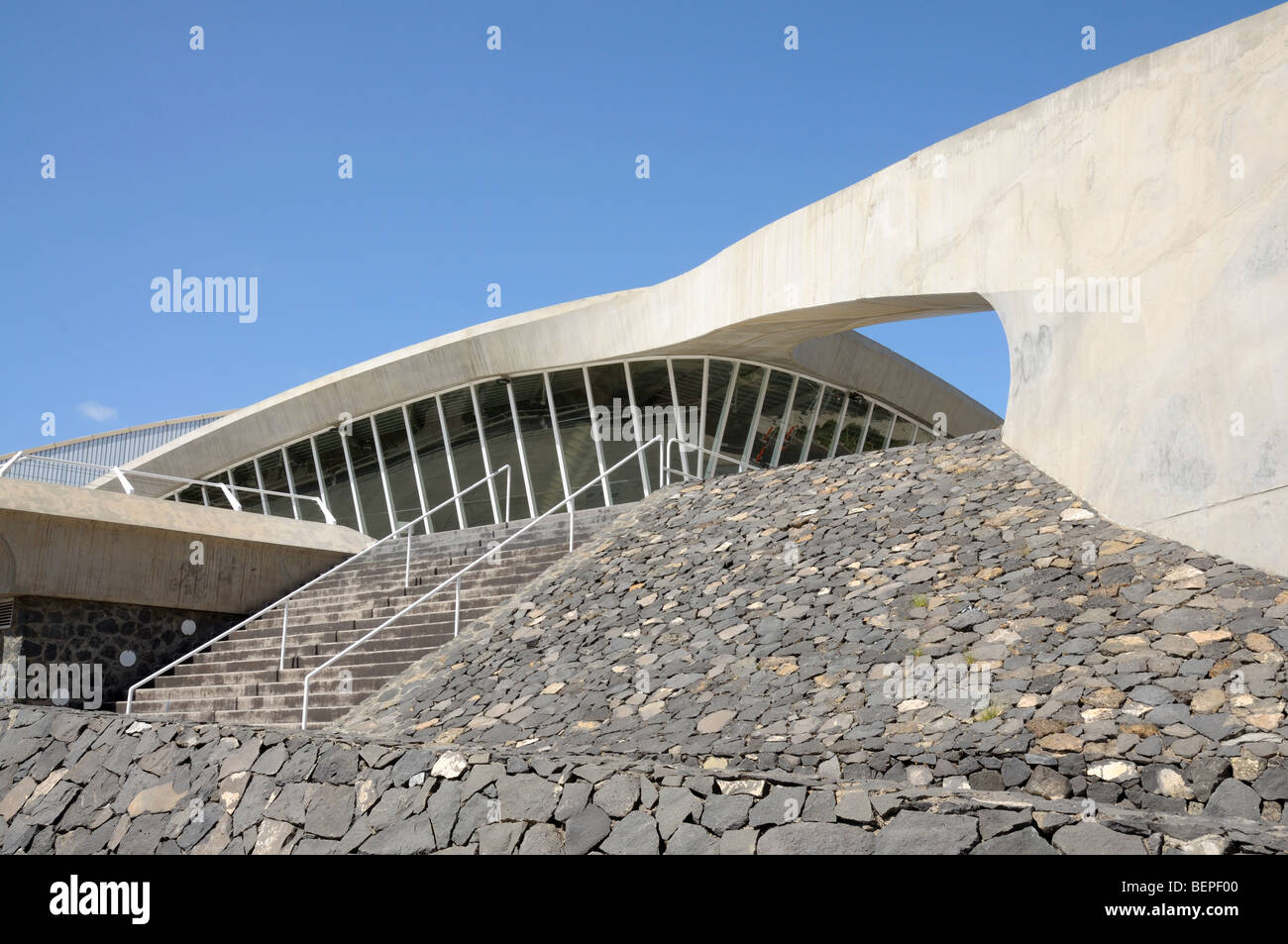 Modern Architecture Spain modern architecture in santa cruz de tenerife, spain stock photo
