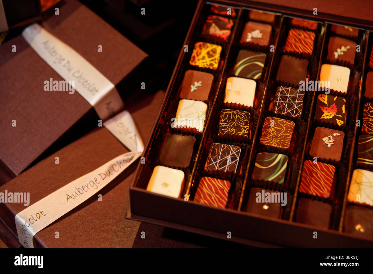 Auberge du Chocolat box of chocolates. Chocolate Unwrapped launch ...