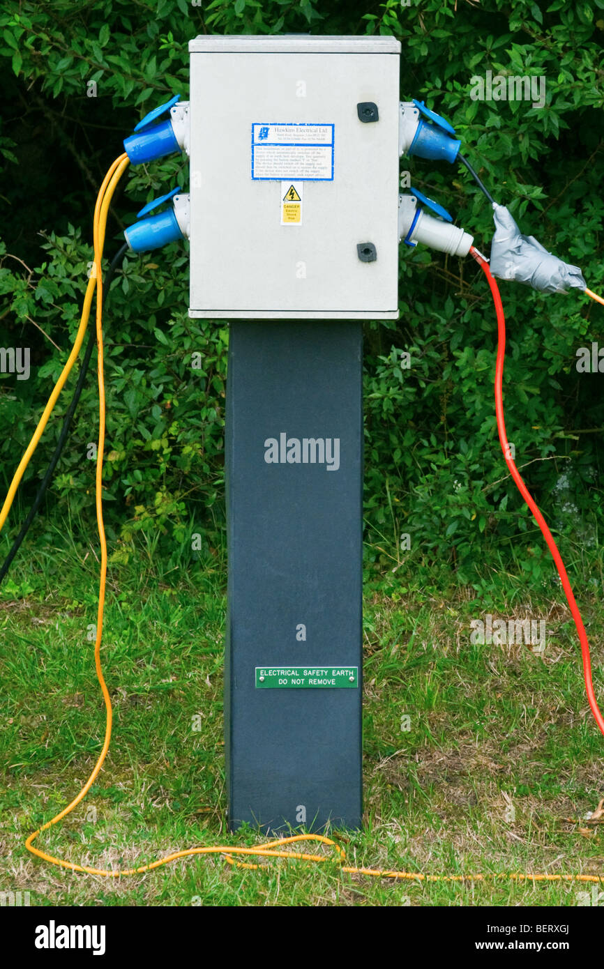C&ing electric hook-up point & Camping electric hook-up point Stock Photo Royalty Free Image ...