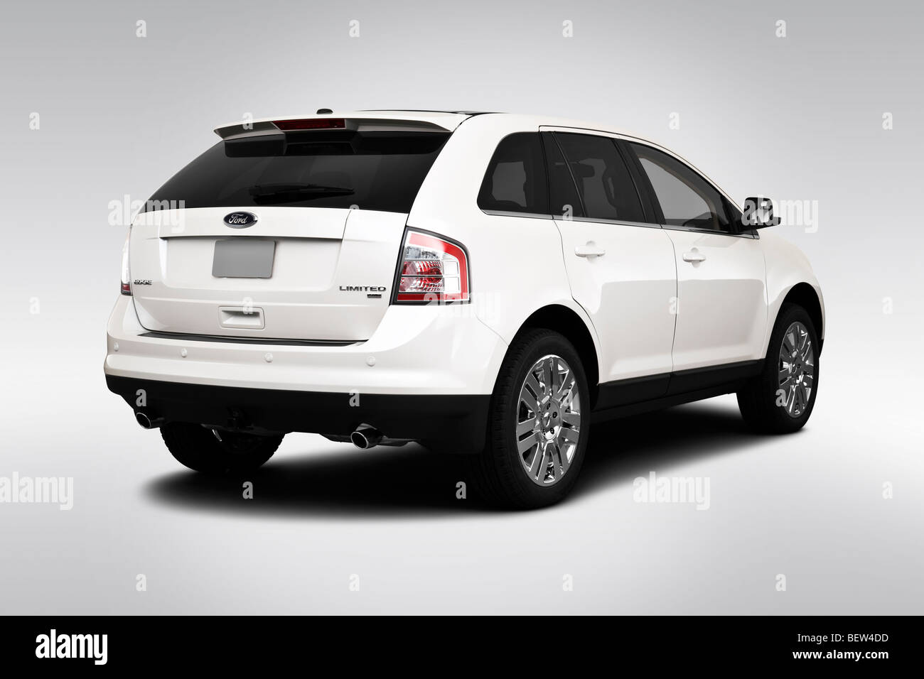 2010 ford edge limited in white rear angle view