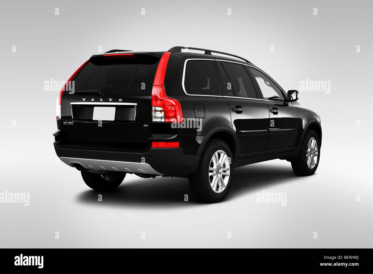 2010 volvo xc90 3 2 in black rear angle view