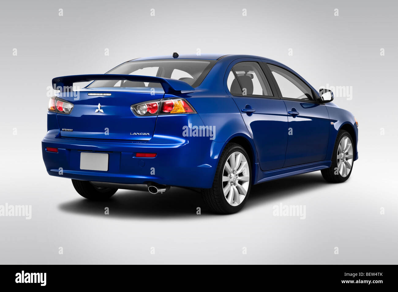 2010 mitsubishi lancer gts in blue rear angle view stock photo 26368179 alamy. Black Bedroom Furniture Sets. Home Design Ideas