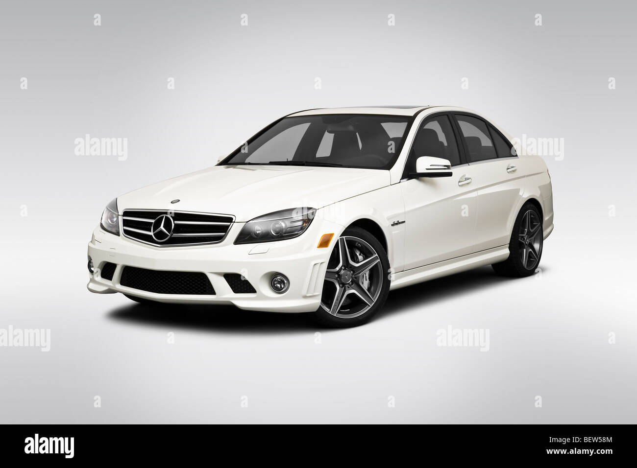 2010 mercedes benz c class c63 amg in white front angle for Mercedes benz c class white