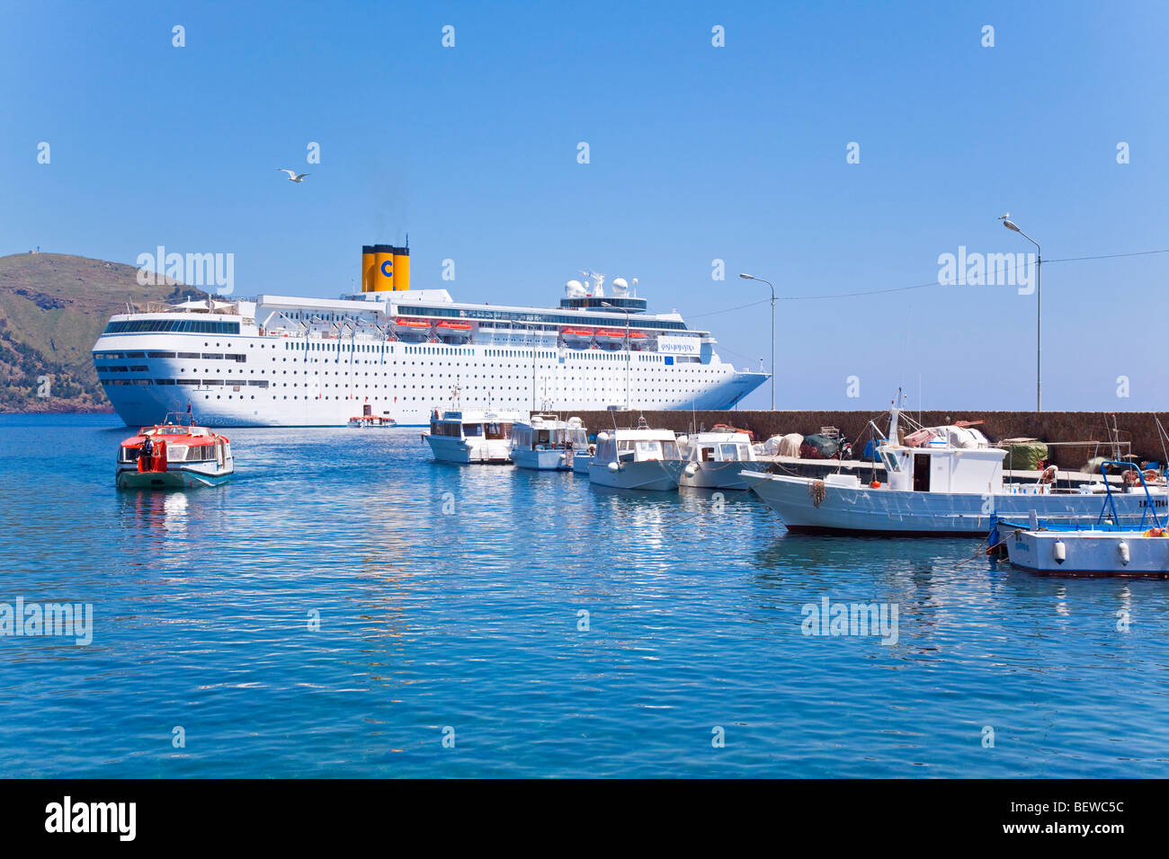 Cruise Ship Cost Romantica Before Lipari Italy Stock Photo - How much would it cost to buy a cruise ship