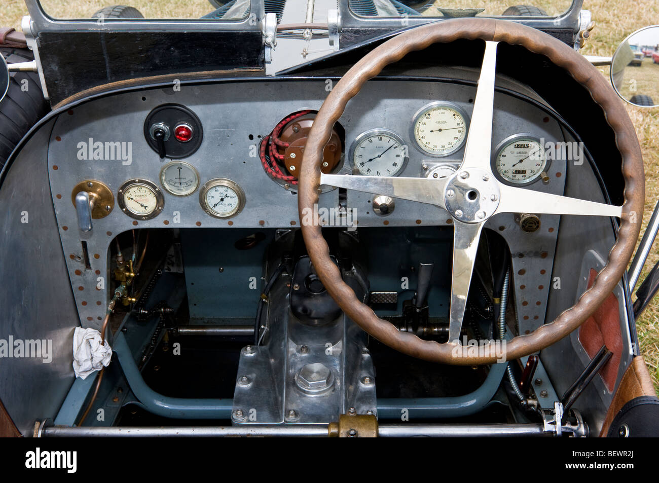 1930 39 s bugatti interior showing gauges controls and steering wheel stock photo 26382458 alamy. Black Bedroom Furniture Sets. Home Design Ideas