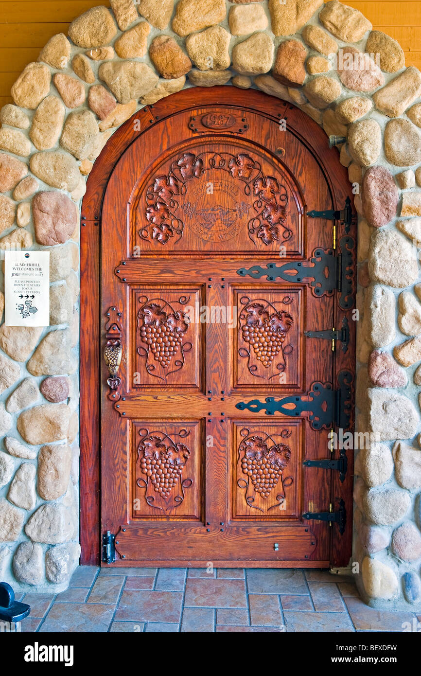 Entrance Door To The Summerhill Pyramid Winery A