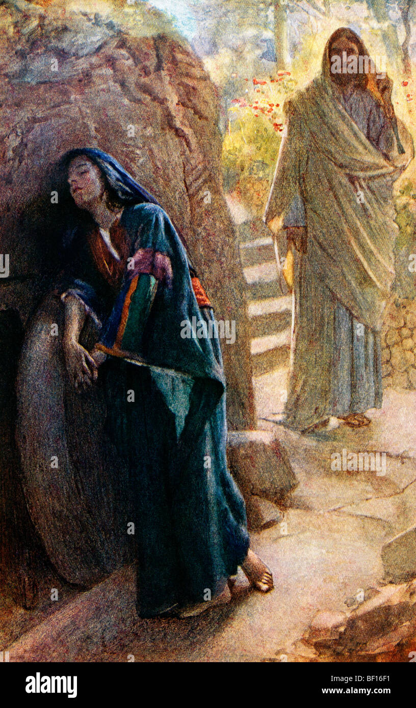 Jesus empty tomb painting