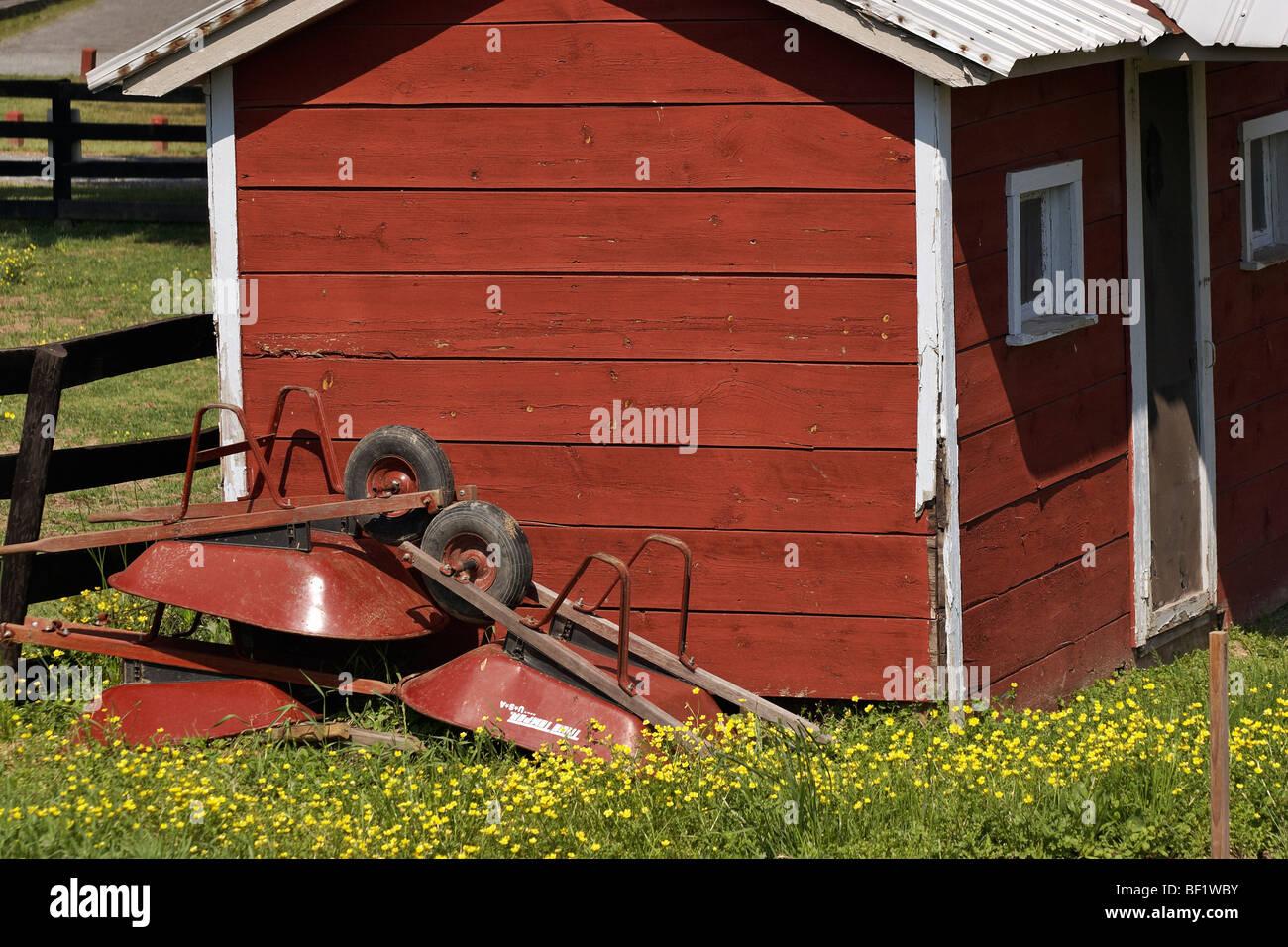 A Garden Shed In Frying Pan Farm Park, Herndon, Virginia