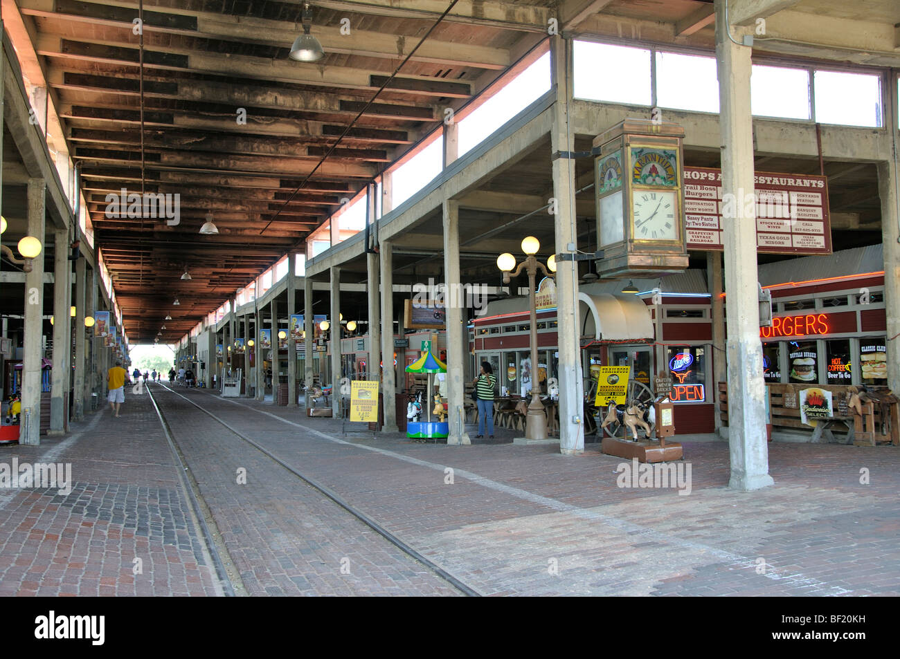 Stockyards restaurants and gift shops, Fort Worth, Texas Stock ...