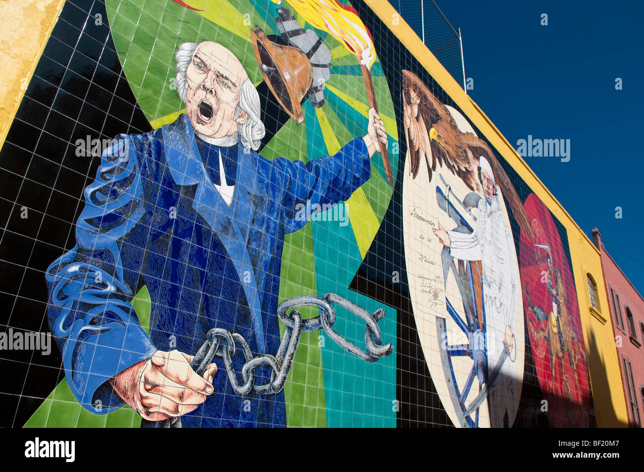 Ceramic tile mural depicting father hidalgo calling for the ceramic tile mural depicting father hidalgo calling for the mexican revolution dolores hidalgo guanajuato mexico doublecrazyfo Images