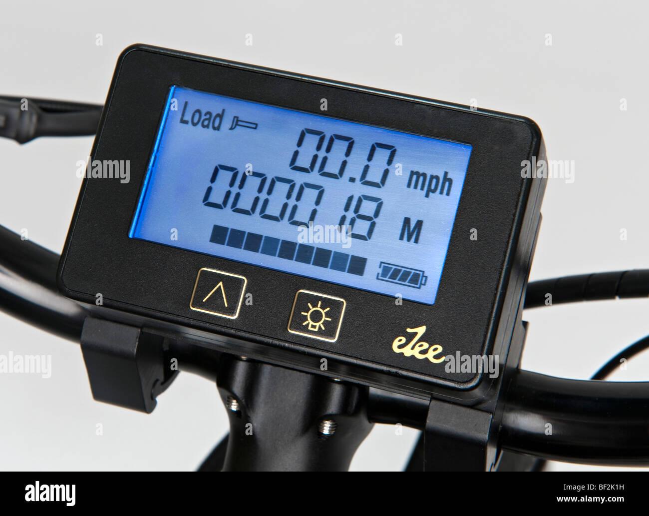 The Handlebar Computer On An Ezee Sprint Electric Bike Showing