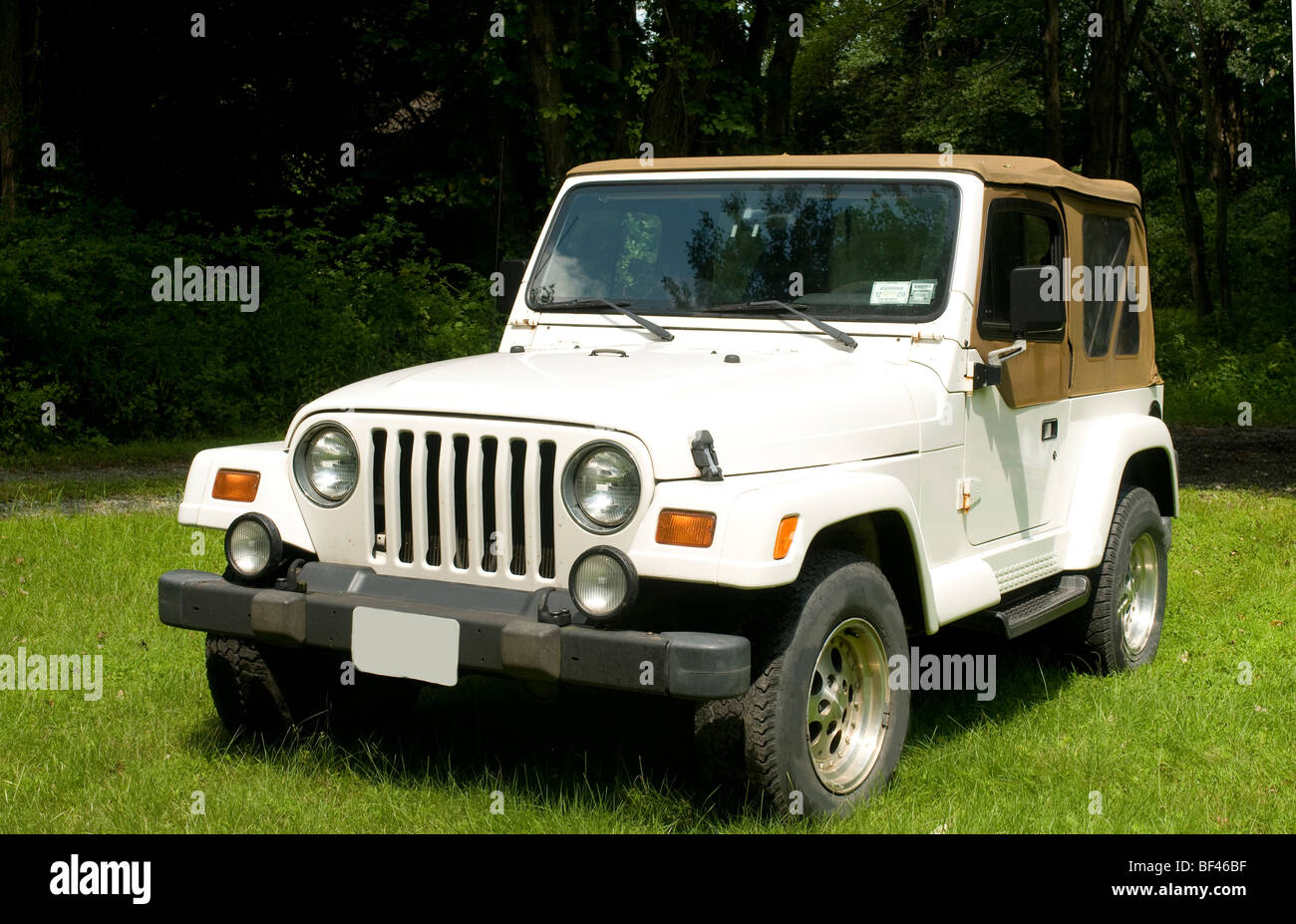 classic soft top utility four wheel drive truck vehicle on ...